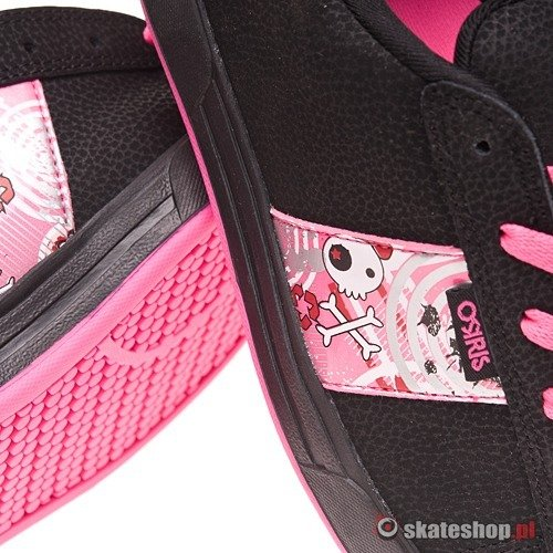 Buty OSIRIS Serve Girls (black/pink/silver) czarno-różowe 532