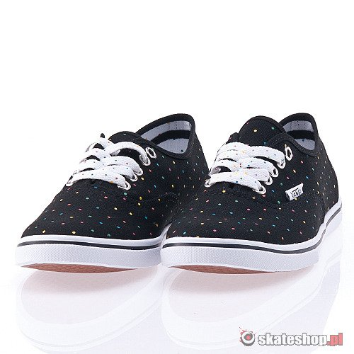 Buty VANS Authentic Lo Pro WMN (black/rainbow dot) czarne