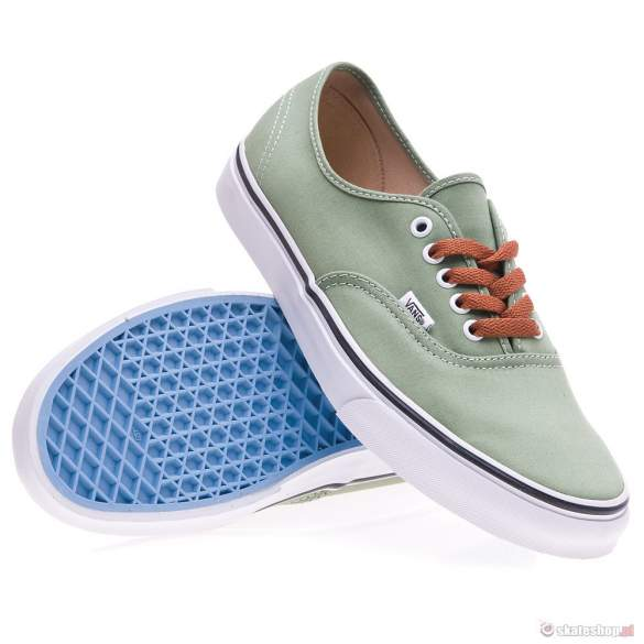 Buty VANS Authentic (brushed twill/shr green/true white) oliwkowe