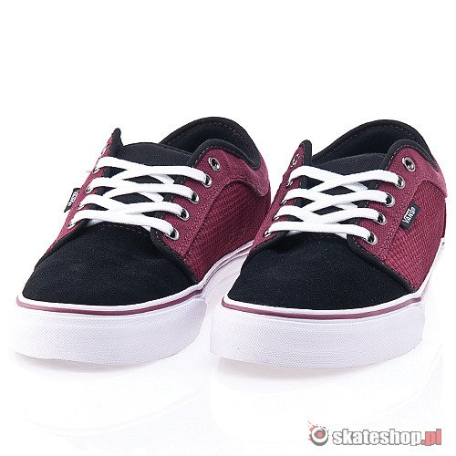 Buty VANS Chukka Low (black/dark ruby) bordowo-czarne