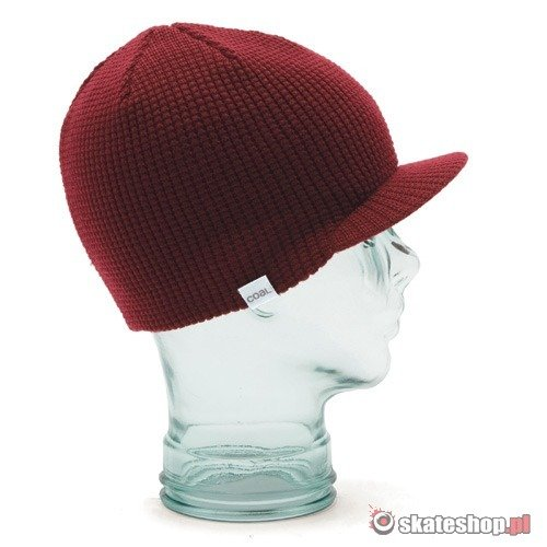 Czapka COAL The Staple Brim (dark red) bordowa