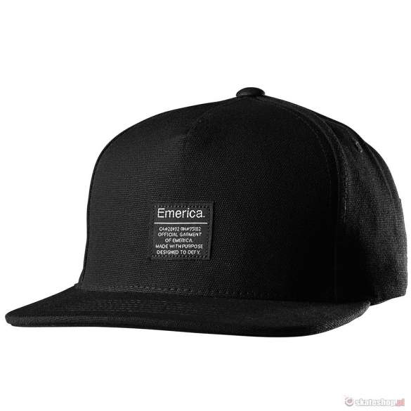 Czapka EMERICA Standard Issue (black/black)