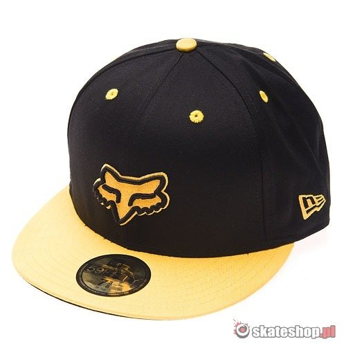 Czapka FOX Pitsburg NEW ERA (black/yellow) czarno-żółta