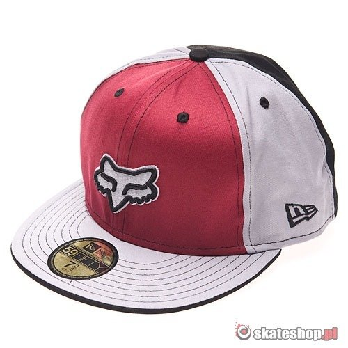 Czapka FOX Prom King NEW ERA (cardinal) bordowo-szara