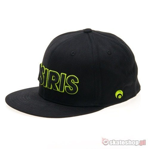 Czapka OSIRIS Chicago (black/lime) czarna