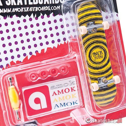 Fingerboard AMOK Brush (black/yellow) czarno-żółty
