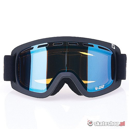 Gogle DRAGON D2 (coal/blue ion) czarne