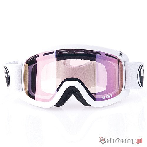 Gogle DRAGON D2 (powder/pink ion) białe