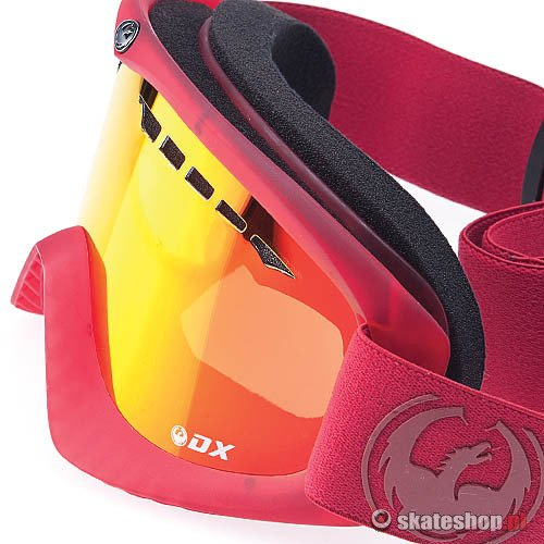 Gogle DRAGON DX (ruby red/red ion) czerwone + Gratis Yellow Lens !!