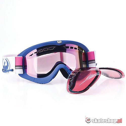 Gogle DRAGON DXS (nautical/pink ion) fioletowo-różowe + Gratis Rose Lens !!