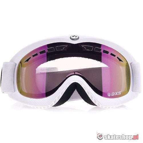 Gogle DRAGON DXS (powder/pink ionized) białe smpl