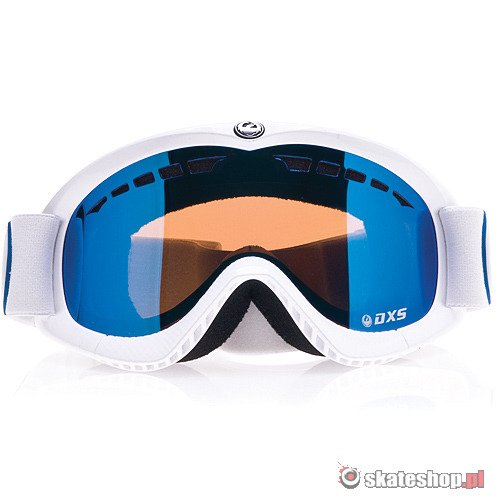 Gogle DRAGON DXS (white/bluesteel) białe + yellow/blue ionized smpl