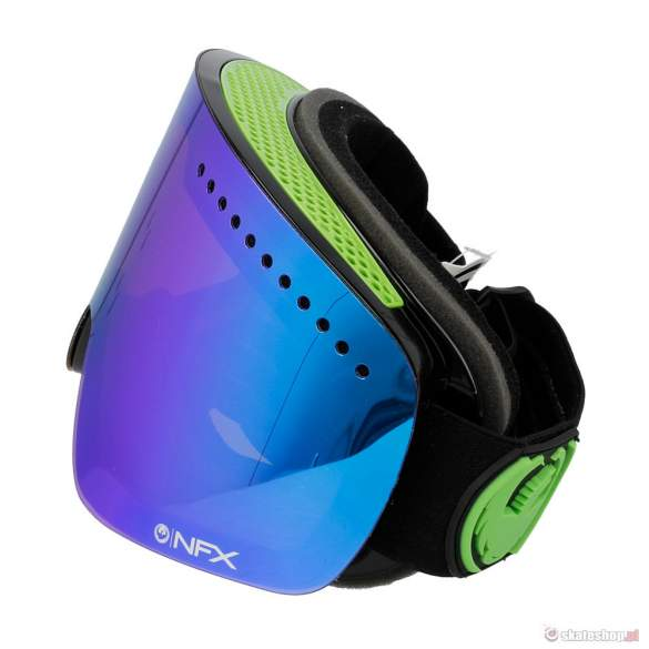 Gogle DRAGON NFX (jet/green ion + yellow blue ion)