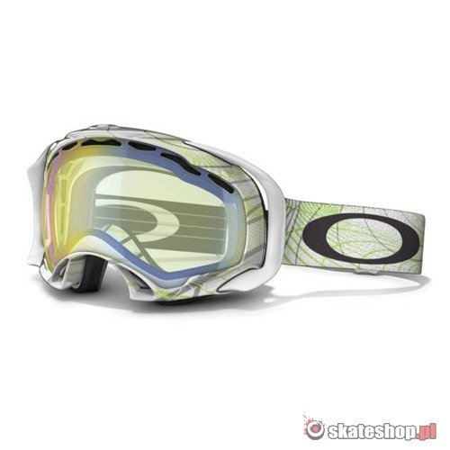 Gogle OAKLEY Splice (orbit white/mint/hi yellow) biało-zielone