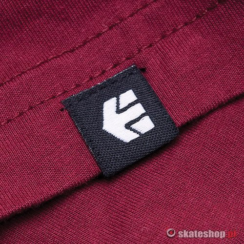 Koszulka ETNIES Corporate 10 (burgundy) bordowa