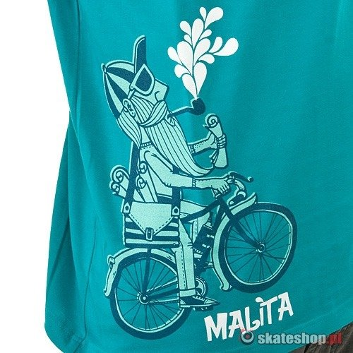 Koszulka MALITA Bicycle (aqua) turkusowa