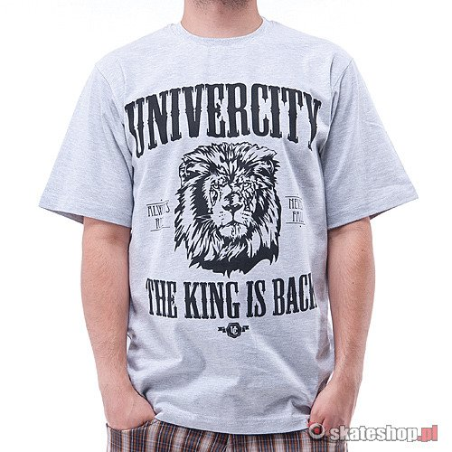 Koszulka UNIVERCITY King (light grey) szara