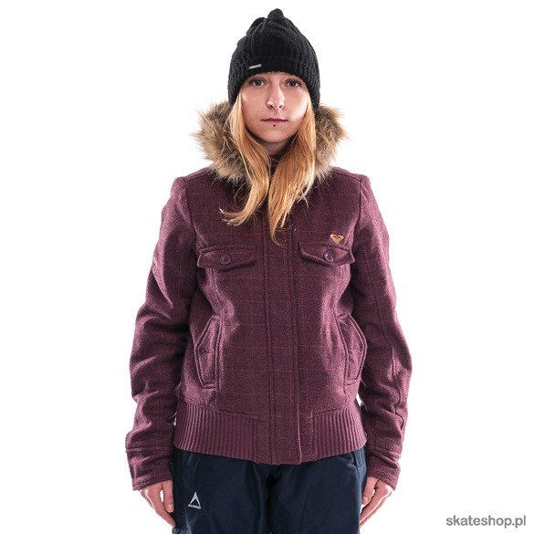 Kurtka ROXY Not To Sure (burgundy)