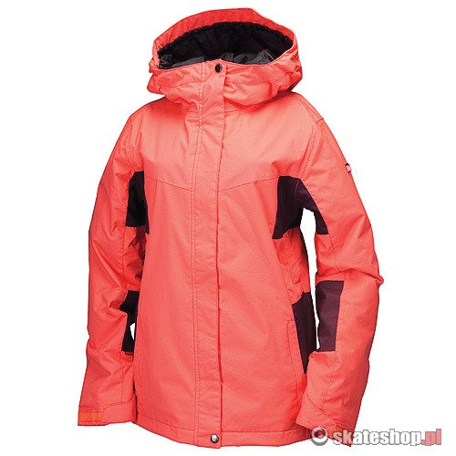 Kurtka snowboardowa RIDE Crown Insulated WMN (coral/deep plum/herringbone) różowa
