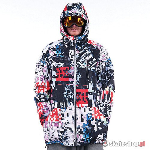 Kurtka snowboardowa RIDE Newport (spaceknuckle print) multikolor smpl