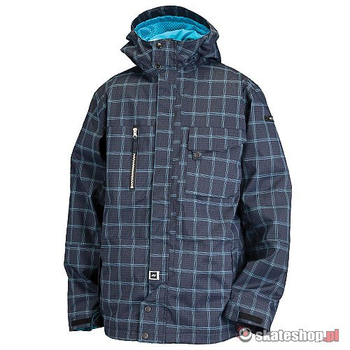 Kurtka snowboardowa RIDE Pioneer Insulated (blue spruce window pane plaid) granatowo-niebieska