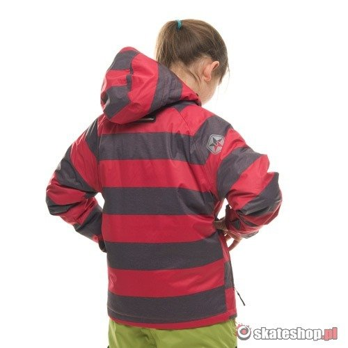 Kurtka snowboardowa SESSIONS Buckie Heather Stripe J's (red/grey)