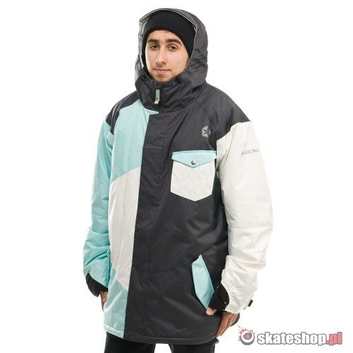 Kurtka snowboardowa SESSIONS Istodis (light blue) szaro-błękitna