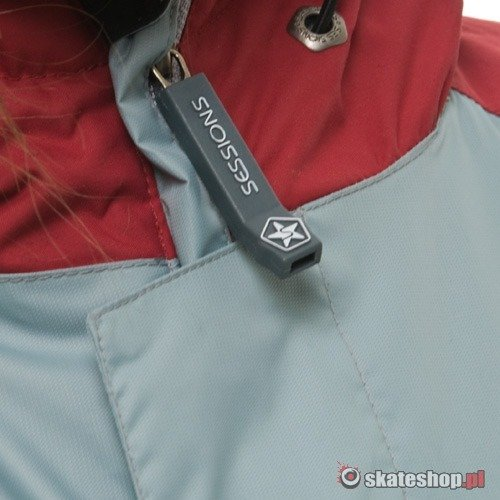 Kurtka snowboardowa SESSIONS Larry J's (crimson/gray lite/cool white)