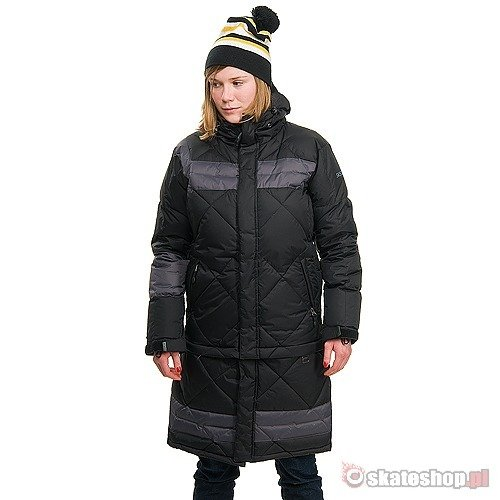 Kurtka snowboardowa SESSIONS Madison WMN (black/charcoal) czarna
