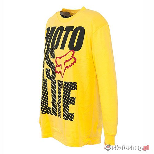 Longsleeve FOX Moto Is Life (yellow) żółty