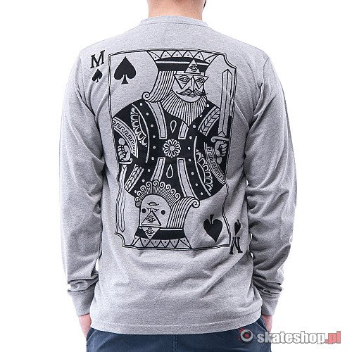 Longsleeve MALITA Poker '12 (heather grey) szary