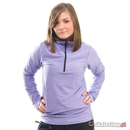Longsleeve SESSIONS Diffusion Mock Neck WMN (light purple) jasnofioletowy