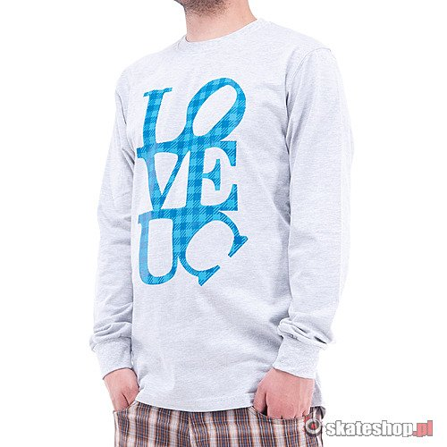 Longsleeve UNIVERCITY Love UC (light grey) szary