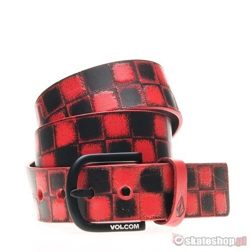 Pasek VOLCOM Stone Age Cheques (red) czerwony