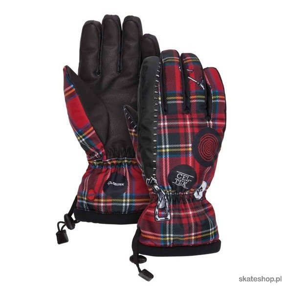 Rękawice CELTEK Bitten By A Glove (punk plaid)