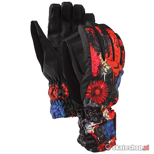 Rękawice snowboardowe BURTON Profile Under Gloves WMN (risque flowers on crack print) multikolor