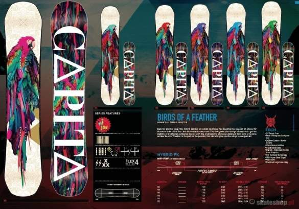 Snowboard CAPITA Birds Of A Feather '14 WMN 146