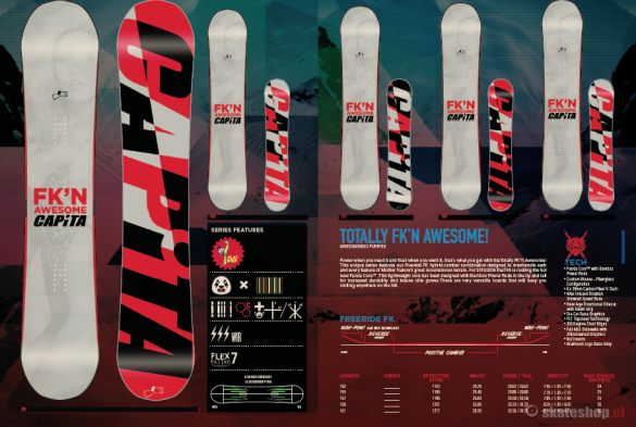 Snowboard CAPITA TOTALLY FK'N AWESOME!'14 157