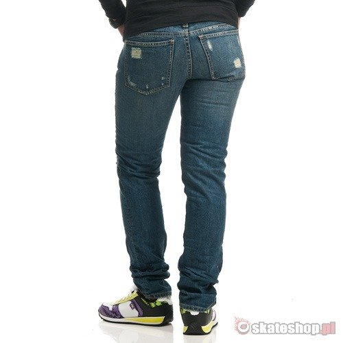 Spodnie FOX Boyfriend Destroyed WMN (dark vintage) ciemny jeans