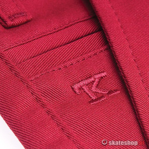 Spodnie TURBOKOLOR Chinos SSF (crimson) bordowe