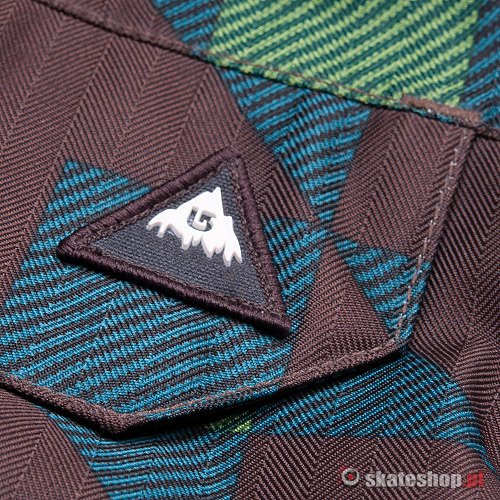 Spodnie snowboardowe BURTON Poacher (brown/blue/lime)