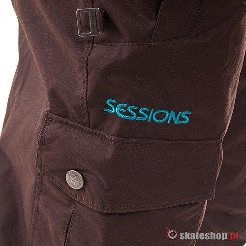 Spodnie snowboardowe SESSIONS Rail WMN (java brown) brązowe