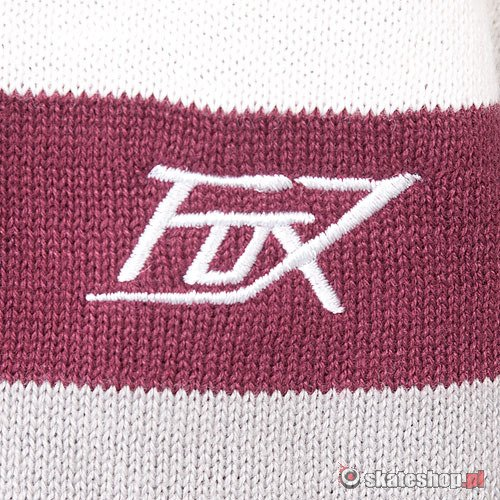 Sweter FOX Central (burgundy) bordowo-szary