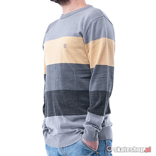 Sweter MATIX Big Block (heather grey) szaro-czarno-żółty