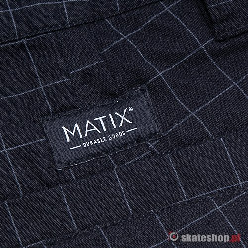 Szorty MATIX Welder Plaid (black) czarne