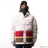 Kurtka snowboardowa PLANET EARTH Stripe (wht/brg)