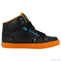black/orange/blue