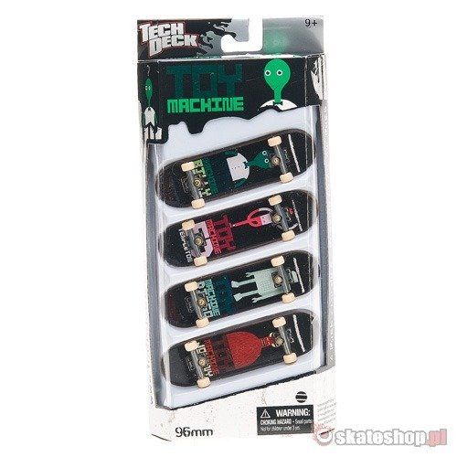 Tech Deck 4 Pack TOY MACHINE Fingerboards