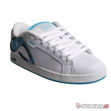 ADIO Eugene RE STAMP WMN white/turquoise/black shoes