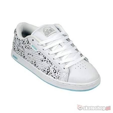 ADIO Eugene RE WMN white/aqua motif shoes
